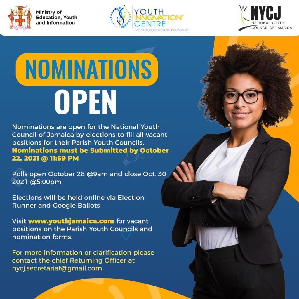 National Youth Council of Jamaica – Nominations Open